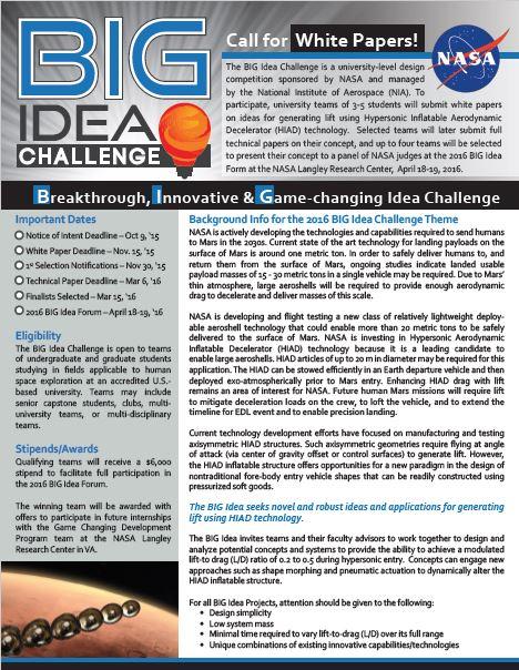 BIG Idea Flyer Image