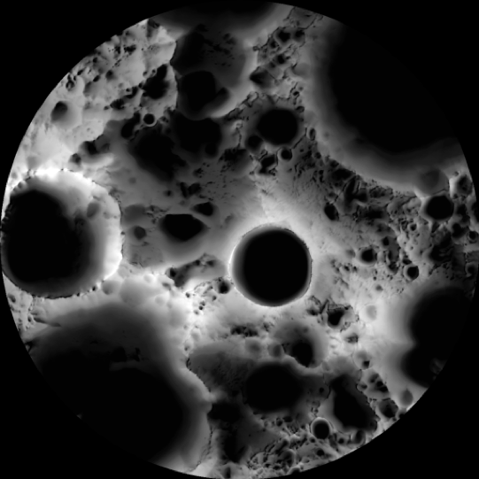 South Pole Lunar Illumination Map